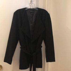 Black wrap blazer